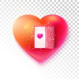 Be my Valentine on golden heart Royalty Free Stock Photos