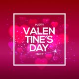 Be my Valentine on golden heart Royalty Free Stock Photography