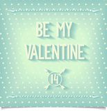 Be my valentine greeting card Stock Photos