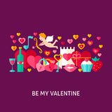 Be My Valentine Greeting Card Stock Image