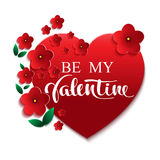Be my Valentine greeting card Stock Photography