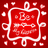 Be My Valentine Greeting Card Royalty Free Stock Photo