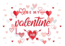 Vector Valentines Day card royalty free illustration