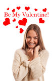 Be My Valentine! Royalty Free Stock Photos