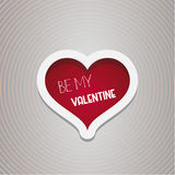 Be My Valentine Heart design. Vector illustration Royalty Free Stock Image