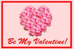 Be My Valentine - Heart of Roses vector illustration