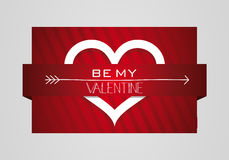 Be My Valentine Heart Symbol Card Stock Photography