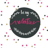 Be my valentine. Ink illustration. Royalty Free Stock Photos