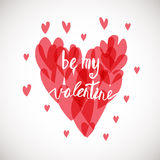 Be my valentine. Ink illustration. Stock Photography