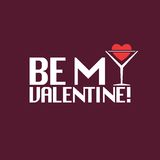 Be my valentine inscription. vector eps8 Stock Images