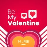 Be My Valentine, love concept design background stock image
