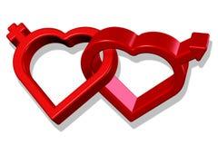 Be my Valentine, love symbol. Illustration Royalty Free Stock Photography