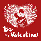 Be my Valentine. ! We are meant to be! Be mine! Words we say when in love Vector Illustration