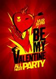 Be My Valentine party design. Royalty Free Stock Photography