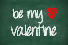 Be my valentine phrase Stock Photo