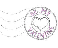 Free Be My Valentine Post Stamp Royalty Free Stock Photos - 36738138