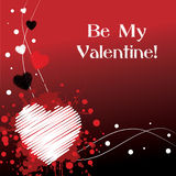 Be My Valentine - Red. Grungy Red Valentine's Day Design royalty free illustration