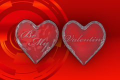 Be my valentine In Red Background  Royalty Free Stock Images