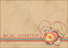 Be my Valentine. Retro card Royalty Free Stock Images