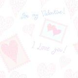 Be my Valentine! seamless background Stock Photo