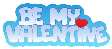 Be my Valentine sign Royalty Free Stock Photography