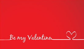 Be my Valentine Text -Handmade Calligraphy Royalty Free Stock Image