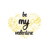 Be my valentine. Trendy poster for Happy Valentines Day, 14 february Stock Images