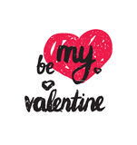 Be my valentine. Trendy poster for Happy Valentines Day, 14 february Royalty Free Stock Photography