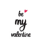 Be my valentine. Trendy poster for Happy Valentines Day, 14 february Stock Photography