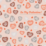 Be My Valentine! typography Happy Valentines Day Card. Romant Royalty Free Stock Photos