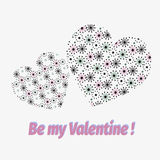 Be My Valentine. Valentine Day and vector. Be My Valentine. Valentine Day and Love vector illustration Stock Images