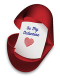 Be My Valentine - valentines day card Stock Photos