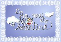 Be My Valentine vector card Stock Photo
