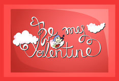 Be My Valentine vector card Royalty Free Stock Photos