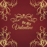 Be my Valentine. Vector illustration Stock Photos