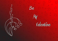Be my Valentine Wallpaper Stock Photography