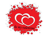 Be my valentine word with heart Stock Photo