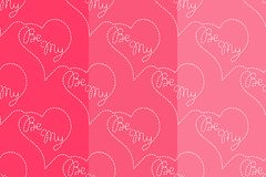 Be My vector seamless pattern. Flying hearts and spirit of love ornament for textile, prints, wallpaper, wrapping paper, web etc. Available in EPS stock illustration