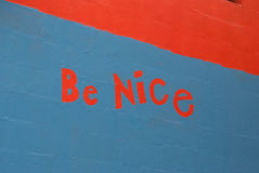 Be Nice Graffiti Stock Image