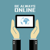 Be always online poster Royalty Free Stock Images