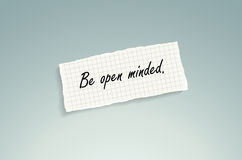 Be open minded Stock Photography