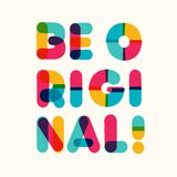 Be original motivational poster bold colorful style
