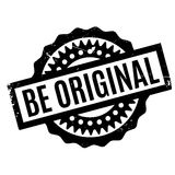 Be Original rubber stamp Stock Image