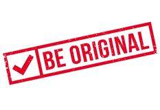 Be Original rubber stamp Royalty Free Stock Images