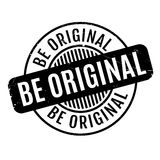 Be Original rubber stamp Stock Photo