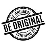 Be Original rubber stamp Stock Photography