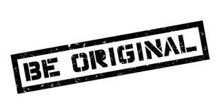 Be Original rubber stamp Stock Photos