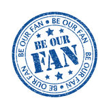 Be our fan Royalty Free Stock Photo