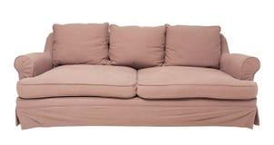 Beżowa kanapa Fotografia Stock
