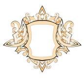 beżowy blazon schematu royalty ilustracja